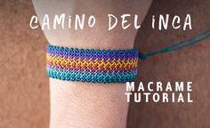 hola nuevamente amigos artesanos macrameros y artistas en general hoy les traigo esta nueva idea , una pulsera de hilos facil en macrame paso a paso con la tecnica o punto camino del inca espero s…