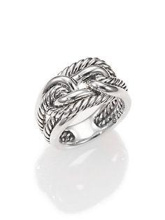 David Yurman - Sterling Silver Interlocked Ring - Saks.com- SIZE 8
