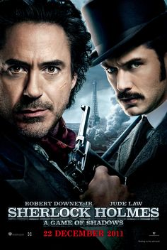 Sherlock Holmes: A Game of Shadows (2011) PG-13 - Stars: Robert Downey Jr., Jude Law, Jared Harris. - Sherlock Holmes and his sidekick Dr. Watson join forces to outwit and bring down their fiercest adversary, Professor Moriarty. - ACTION / ADVENTURE / CRIME