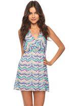 Watercolor Chevron Stripe Dress