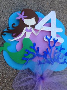 Mermaid cake topper under the sea cake topper by CraftyParfait