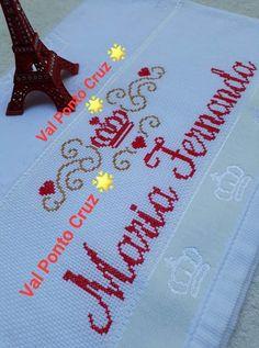 Cross Stitch Alphabet, Crowns