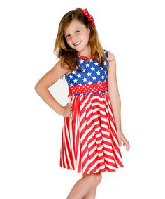 Look at this Red & Blue Evelyn Dress - Infant, Toddler & Girls on #zulily today!