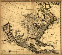 A map of New Spain, from 16 degrees to 38 degrees North latitude, drawn from astronomical observation at Mexico in the year Vintage Maps, Antique Maps, Karten Tattoos, North America Map, South America, New Spain, United States Map, Clip Art, Old Maps