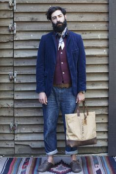 This is wonderful.  Jeans, clogs, jacket and vest.  Fantastic