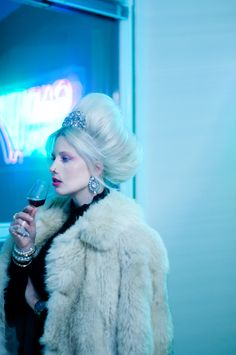 An entry from Project: Training Work Fashion, Hairdresser, Fur Coat, Alice, Tumblr, Train, Projects, Model, Photography