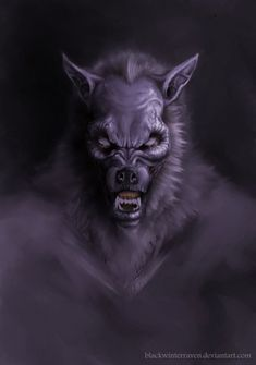 Werewolf Art by blackwinterraven @ deviantart