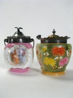 Old+Biscuit+Jars+|+374:+Two+Antique+Biscuit+Jars