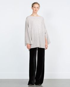 Image 1 of CASHMERE PONCHO from Zara
