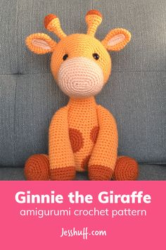 FREE giraffe amigurumi pattern: Ginnie the Giraffe Amigurumi Pattern #amigurumi #crochet #diy #freepattern