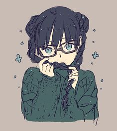 anime, anime girl, art, cute, girl, illustration, anime/manga
