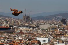 Ivan Garcia of Mexico competes during the Men's 10m Platform Diving final on day nine of the 15th FINA World Championships at Piscina Municipal de Montjuic on July 28 in Barcelona, Spain.(Al Bello/Getty Images) #