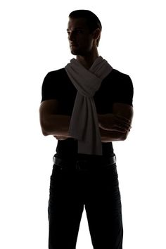 OFF Calvin Klein Collection Men's Ren Melange Scarf (Charcoal) Valentino Men, Givenchy Man, Prada Men, Gucci Men, Striped Scarves, Striped Knit, Mens Knitted Scarf, Armani Jeans Men, Michael Kors Men