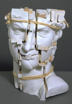 Sir Eduardo Paolozzi 'Michelangelo's 'David'', ?1987; Plaster, plywood and string © The Eduardo Paolozzi Foundation