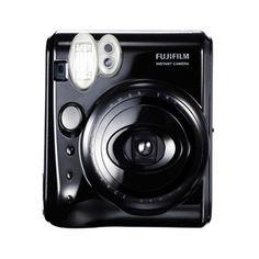 Fujifilm Instax Mini Camera - Fujifilm's Instax Mini Instant Print Camera (Piano Black) brings a party along with it--the Mini takes a picture and gives you a Instax Mini 50s, Fujifilm Instax Mini 8, Fuji Instax, Instant Photo Camera, Instant Print Camera, Instax Film, Instax Camera, Polaroid Cameras, Digital Cameras