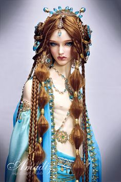 https://flic.kr/p/o5n6ri | Arabian night | Commission outfit and wig for character of male concubine. Model - Boheme - Soom Dia on Spiritdoll Proud body. Wig, face-up, outfit & jewelry by Amadiz Studio.