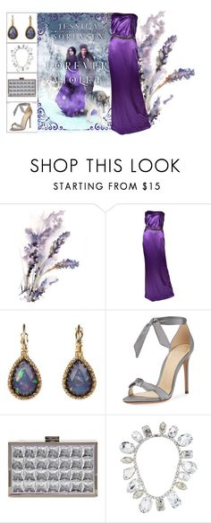 """Book Look: Forever Violet By Jessica Sorensen"" by xmikky ❤ liked on Polyvore featuring Versace, Lori's Shoes, Alexandre Birman, La Sera and Tom Binns"