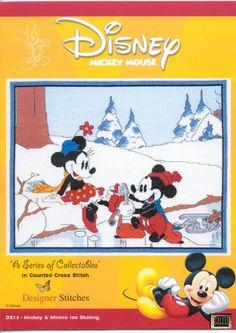Mickey and Minnie Ice Skating