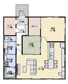 25坪2LDK夫婦二人で住む間取り | 平屋間取り