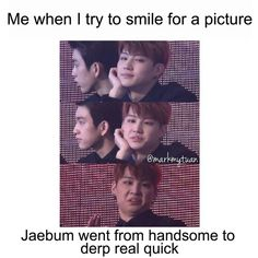 Memes I have come across. There will be mostly BTS and I also have Seventeen and EXO. This is gonna be pretty long so buckle up and enjoy the memes. Bts E Got7, Got7 Meme, Got7 Funny, Got7 Jb, It's Funny, Kdrama Memes, Funny Kpop Memes, Bts Memes, Jaebum Got7