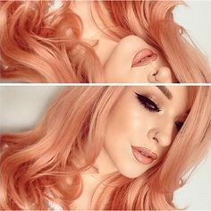LimeCrime makeup but PEACHY PINK RED hair color inspiration Tag #limecrime for a chance to be featured!