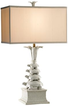Currey and Company Whimsy Porcelain Turtle Table Lamp - $423 @ LAMPS PLUS