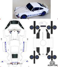 Бумажные модели : Porsche 956 -117, PORSCHE 911 Carrera RS2.7, Porsche 718/2 Paper Model Car, Paper Airplane Models, Paper Car, Paper Plane, Paper Models, Cardboard Toys, Paper Toys, 3d Paper Crafts, Diy Paper