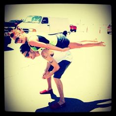 Colton and his sister Schyler (sp?) Planking! haha