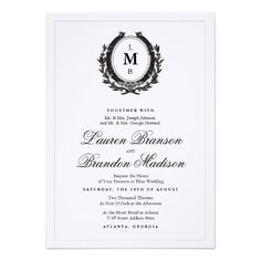 Classic Luxe Wedding Invitation
