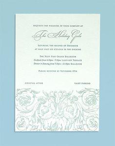 Rococo letterpress invitation from Dauphine Press Couture Weddings I