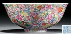 #清道光 #粉彩 #百花不落地 纹碗 Qing Dynasty, Chinese Antiques, Japanese, Tableware, Glass, Vintage, Pattern, Dinnerware, Japanese Language