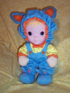 Jammie Pies Doll... My first doll, but mine was pink and white instead of blue.