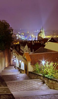 Old Castle Stairs, Prague, Czechia