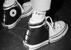 c6b4c6a8be90c0 Feng Chen Wang Debuts Wildly Deconstructed Converse Chuck Taylors At  Shanghai Runway Show. Jolene · Footwear