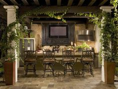 Awesome outdoor patio bar!  55 Patio Bars + Outdoor Dining Rooms : Outdoor Projects : HGTV Remodels