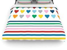#hearts #heart #love #rainbow #colour #color #stripes #projectm #emeline #kess #kessinhouse #artforthehome #duvet #cover