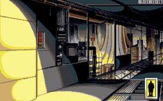 105 Rise of the Dragon Amiga Cyberpunk Game. Cyberpunk Movies, Cyberpunk Games, Cyberpunk Aesthetic, Aesthetic Gif, Pix Art, Pixel Animation, Cyber Punk, Secret Code, Yellow Submarine