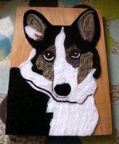 Dog Yarn Painting tutorial