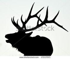 bull elk clip art | Elk Head Silhouette Bull elk calling valentine