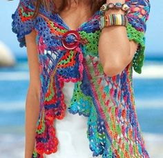 Perfect crochet pattern for making a boho vest. Comes with detailed do-it-yourself PDF instructions and charts.