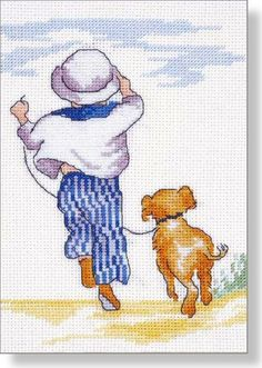 Best Pals - Faye Whittaker Arts, All Our Yesterdays Cross Stitch and Original Art Wesbsite