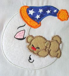 My Little Moon 08 Machine Applique Embroidery Design  by KCDezigns, $3.00