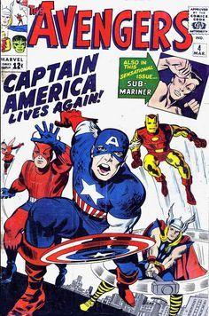 The Avengers número 4, 1964, por Jack Kirby