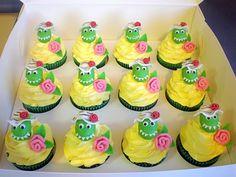 Dorothy the Dinosaur Cupcakes Dinosaur Train Cakes, Dinosaur Cupcake Cake, Dinosaur Birthday Cakes, Birthday Cake Girls, Cupcake Cakes, Dinosaur Party, 2nd Birthday, Birthday Ideas, Birthday Parties