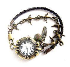 Armbanduhr Schwalbentanz http://de.dawanda.com/shop/Elfenmanufaktur
