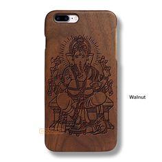 Ganesh Vinayaka iPhone 7 Plus Case - iPhone 7 Plus Solid Total Wood Case - ADTRG0132