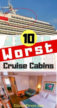 There are 10 cabins on a cruise you might want to stay away from.  We are going through the 10 worst cabins on a cruise ship...#staterooms #cabins #cruise #cruisecabins #cruisetips