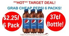 WOOHOO! A STOCK UP deal on Pepsi Products at Target! Grab 6 packs for only $2.25! That is $0.37 per bottle! Check out this HOT DEAL!  Click the link below to get all of the details ► http://www.thecouponingcouple.com/pepsi-products-6-pack-bottles/ #Coupons #Couponing #CouponCommunity  Visit us at http://www.thecouponingcouple.com for more great posts!