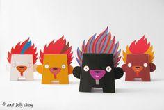 Dolly Oblong 2009  - paper toys