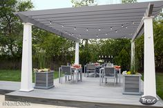 You've decided on Trex composite decking and chosen the colors. Now's your chance to consider some of the Trex deck ideas you'd like to incorporate into your new deck. Living Room Furniture Layout, Deck Furniture, Furniture Logo, Modular Furniture, Urban Furniture, Steel Furniture, Retro Furniture, Furniture Storage, Farmhouse Furniture